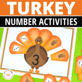 Thanksgiving Math: Turkey 1-10 Number Sorting Mats