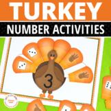 Thanksgiving Math: Turkey 1-10 Number Sorting Mats