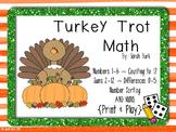 Turkey Trot Math - PreK, Kindergarten, First