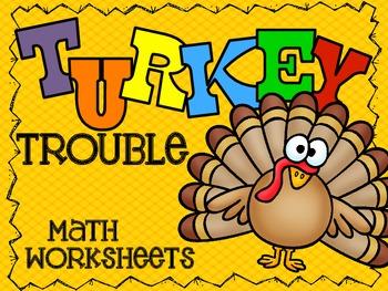 Turkey Trouble Math & Morning Work Activities