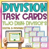 Two Digit Divisor Division Task Cards { With & Without Rem