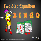 Two Step Equations Bingo with PowerPoint Show