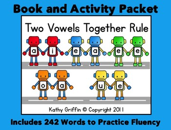 Two Vowels Together Rule Books and Reading Fluency Packet