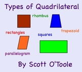 Types of Quadrilaterals Smartboard Math Lesson