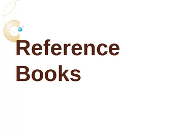 Types of Reference Books Powerpoint