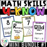 Math Games Bundle: U-Know {Played like UNO)