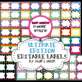 EDITABLE LABELS  ULTIMATE Edition  Bundle & Save! 180 labe