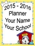 ULTIMATE Teacher Planner 2015-2016 - Fun Dog Theme Common