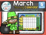 UPDATED!! SMARTBOARD Calendar Math- March  (English)