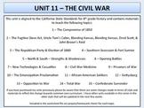 U.S. History - Civil War Unit - Secession to Appomattox.