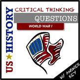US History Questions: World War I