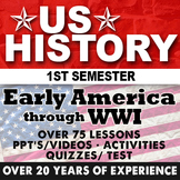 US History First Semester Super Bundle Curriculum Giant Co