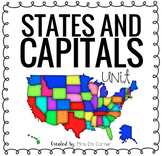 US States and Capitals Unit