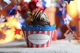 Patriotic Cupcake Holders! Editable Custom PDF's Printable