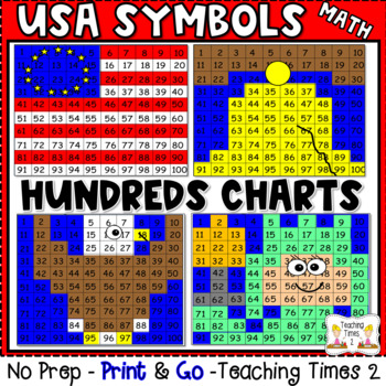 USA Symbols Hundreds Chart Hidden Pictures