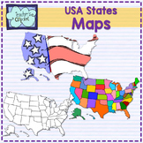 {USA} States clipart