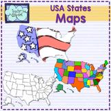 {USA} States clipart