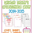 Ultimate Teacher's Organizational Binder(s) - Subs, Commun
