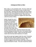 Underground Water on Mars
