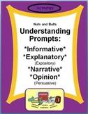 Understanding Prompts: Expository, Narrative, & Persuasive