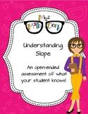 Understanding Slope: an open ended assessment