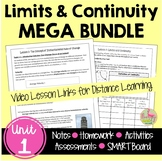Calculus: (Unit 1) Limits and Continuity Unit-Bundled