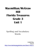 Unit 1 Spelling and Vocabulary - 3rd Grade