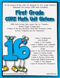 First Grade CORE Math Unit 16