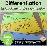 Calculus: (Unit 2) Differentiation Review & Assessment Bundle