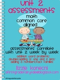 Unit 2- Math Bundled Assessments/ Addition and Subtraction