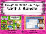 Unit 4 Houghton Mifflin Journeys MEGA BUNDLE (Homework & Q