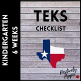 Kindergarten TEKS Checklist - 2014-15 (6 Week Checks)