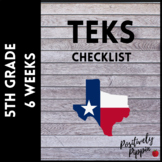 5th Grade TEKS Checklist - 2014-15 (6 Week Checks)