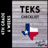 4th Grade TEKS Checklist - 2014-15 (6 Week Checks)