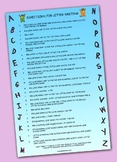 Upper Case Alphabet writing poster