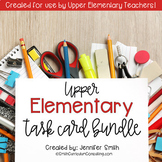 Upper Elementary Task Card Bundle of Resources for Interac