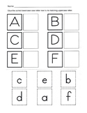 Alphabet Recognition / Uppercase and Lowercase Alphabet Ma