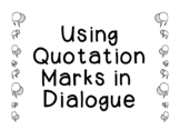 Using Quotation Marks in Dialogue Practice Punctuation Wri