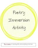 Using Your Senses Poetry Activity