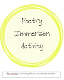 Using Your Senses Poetry Activity