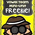 VOWEL TEAM Freebie - Phonics and Word Work