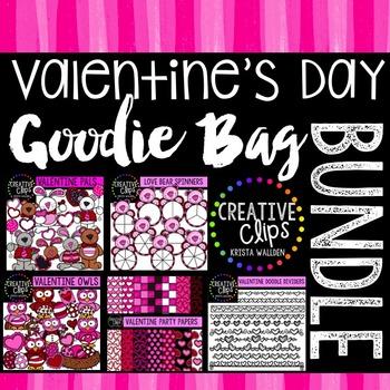 Valentine Goodie Bag Bundle {Creative Clips Digital Clipart}