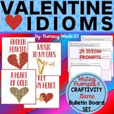 Valentine Idioms Craftivity, Bulletin Board Set & More! Co