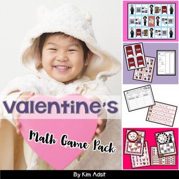 Valentine Math Game Pack