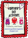 Valentine's Day Activities- Math and Literacy