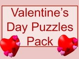 Valentine's Day Fun Puzzled Pack Worksheets