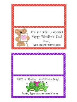 Valentine's Day Goodie Bag Topper - Editable!
