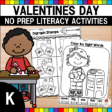 Valentine's Day Kindergarten Literacy Worksheets