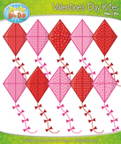Valentine's Day Kites Clipart — Includes 10 Bright Graphics!