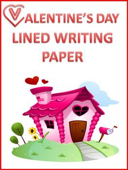 Valentine's Day Lined Writing Paper - 10 Colorful Sheets